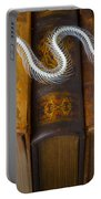 Snake And Antique Books Portable Battery Charger