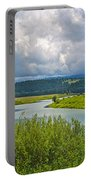 Snake River By Oxbow Bend In Grand Teton National Park-wyoming Portable Battery Charger