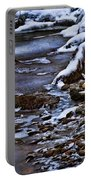 Snow And Ice Water And Rock Portable Battery Charger by Dale Kincaid