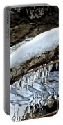 Snow And Icicles No. 1 Portable Battery Charger