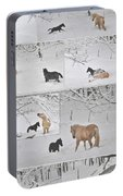Snow Angels Paso Fino Style Portable Battery Charger