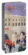 Snow At Buckingham Palace Portable Battery Charger by William Cooper