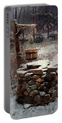Snow At Twilight Portable Battery Charger