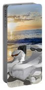 Snow Bird Vacation Portable Battery Charger by Gary Keesler