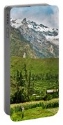 Snow-capped Andes Mountains With Snowline Above 17000 Feet-peru Portable Battery Charger