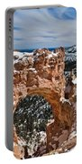Snow Capped Arch At Bryce Portable Battery Charger