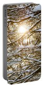Snow Covered Branches Portable Battery Charger