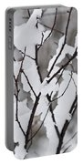 Snow Covered Branches Portable Battery Charger by Elena Elisseeva
