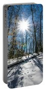 Snow Covered Forest Portable Battery Charger