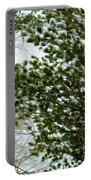 Snow Covered Pine Trees Portable Battery Charger