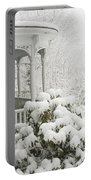 Snow Covered Porch Portable Battery Charger