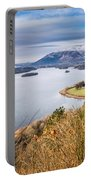 Snow Covered Skiddaw Above Derwent Water Portable Battery Charger