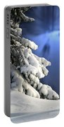 Snow Covered Tree Branches Portable Battery Charger