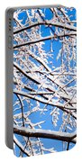 Snow Covered Tree Limb Portable Battery Charger