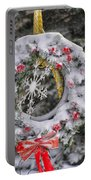 Snow Covered Wreath Portable Battery Charger