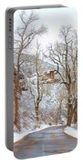 Snow Dusted Colorado Scenic Drive Portable Battery Charger