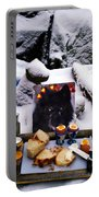 Snow Flake And Colette Winter Snow Lunch Portable Battery Charger