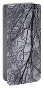 Snow Frosted Branches Portable Battery Charger