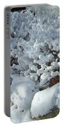 Snow Frosted Bush Portable Battery Charger