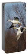 Snow Geese In Flight Portable Battery Charger