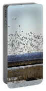 Snow Geese Taking Off At  Loess Bluffs National Wildlife Refuge Portable Battery Charger