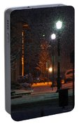 Snow In Downtown Grants Pass - 5th Street Portable Battery Charger