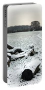 Snow In Surrey England Portable Battery Charger