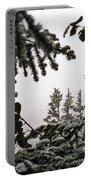 Snow In Trees At Narada Falls II Portable Battery Charger