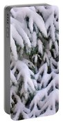 Snow Laden Branches Portable Battery Charger