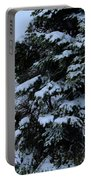 Snow Laden Limbs - Tree - Snow - Snow Storm Portable Battery Charger