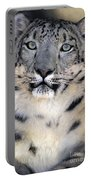 Snow Leopard Portrait Endangered Species Wildlife Rescue Portable Battery Charger