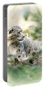 Snow Leopard Pose Portable Battery Charger