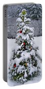 Snow On Christmas Tree 2 Portable Battery Charger