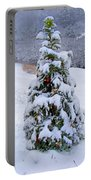 Snow On Christmas Tree Portable Battery Charger