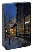 Snow On G Street - Old Town Grants Pass Portable Battery Charger