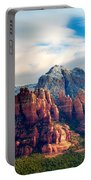 Snow On Red Rocks Portable Battery Charger