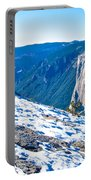 Snow On Sentinel Dome In Yosemite Np-ca Portable Battery Charger