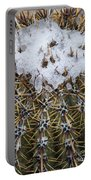 Snow On Top Of Small Saguaro Cactus Portable Battery Charger