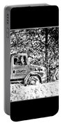 Snow Plow In Black And White Portable Battery Charger