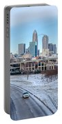 Snow Plowed Public Roads In Charlotte Nc Portable Battery Charger
