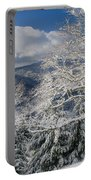 Snow Scene At Berry Summit Portable Battery Charger