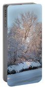 Snow Trees Sunrise 2-2-15 Portable Battery Charger