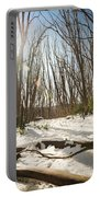 Snow Trees Portable Battery Charger