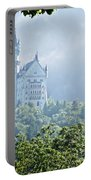 Snow White's Palace In Morning Mist Portable Battery Charger