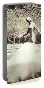 Snow Woman Portable Battery Charger