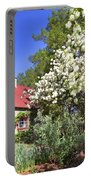 Snowball Tree In The Garden Portable Battery Charger