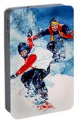 Snowboard Psyched Portable Battery Charger
