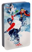 Snowboard Super Heroes Portable Battery Charger