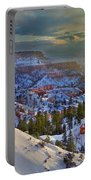 Snowbow During Winter Sunrise Bryce Canyon National Park Utah Portable Battery Charger