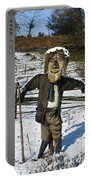Snowcapped Scarecrow Portable Battery Charger